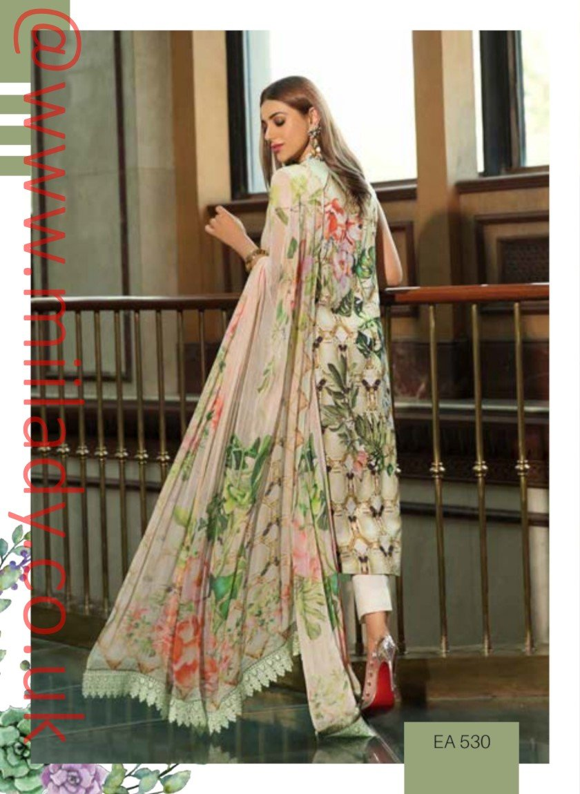 Eshaisha Luxury Lawn Embroidered Eid 2019 suit EA-530
