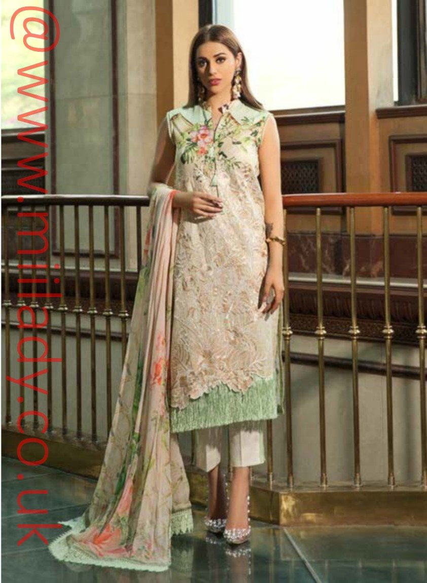 Eshaisha Luxury Embroidered Eid 2019 suit EA-530 - Unstitched Salwar Kameez