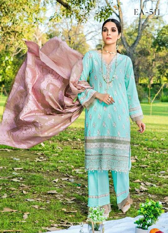 Eshaisha Luxury Embroidered 2020 Lawn suit EA-511