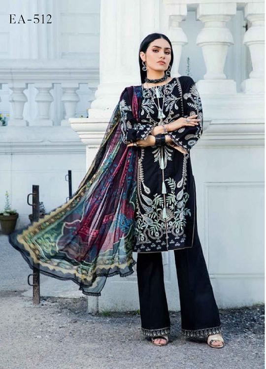 Eshaisha Luxury Embroidered 2020 Lawn suit EA-512