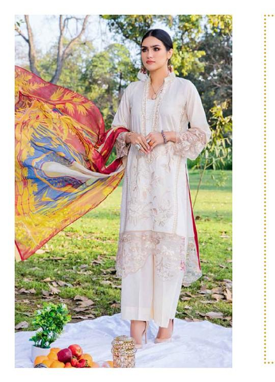 Eshaisha Luxury Embroidered 2020 Lawn suit EA-513