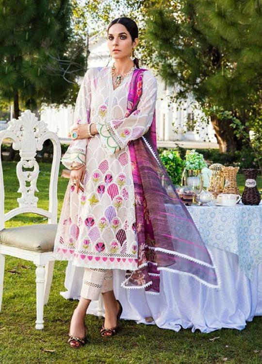 Eshaisha Luxury Embroidered 2020 Lawn suit EA-519