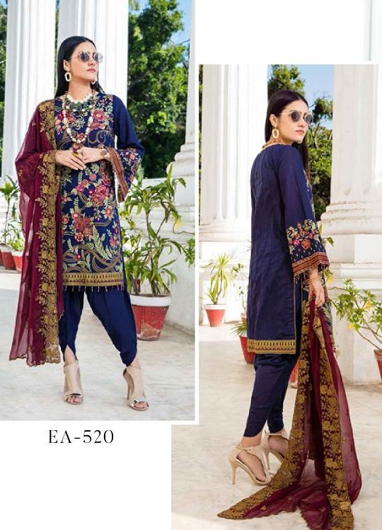 Eshaisha Luxury Embroidered 2020 Lawn suit EA-520