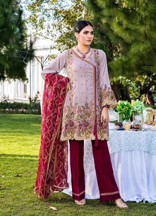 Eshaisha Luxury Embroidered 2020 Lawn suit EA-521