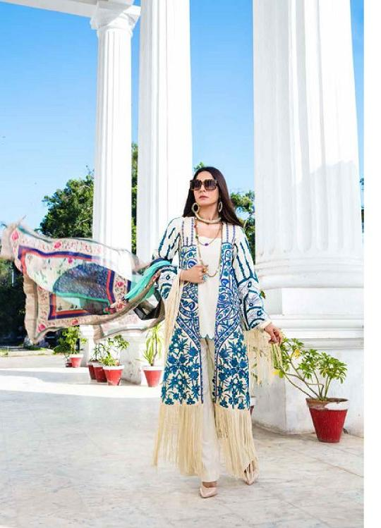 Eshaisha Luxury Embroidered 2020 Lawn suit EA-522