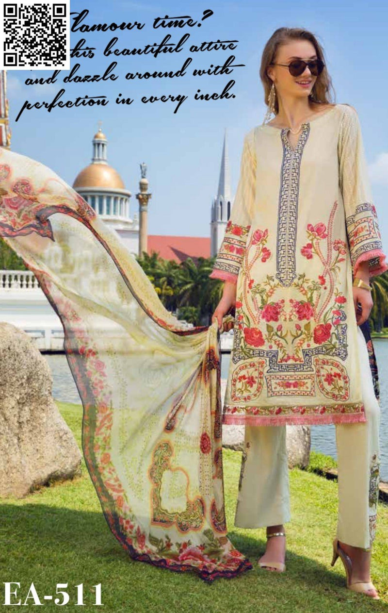 EshAisha Spring/Summer Embroidered Lawn 2019 Suit EA-511