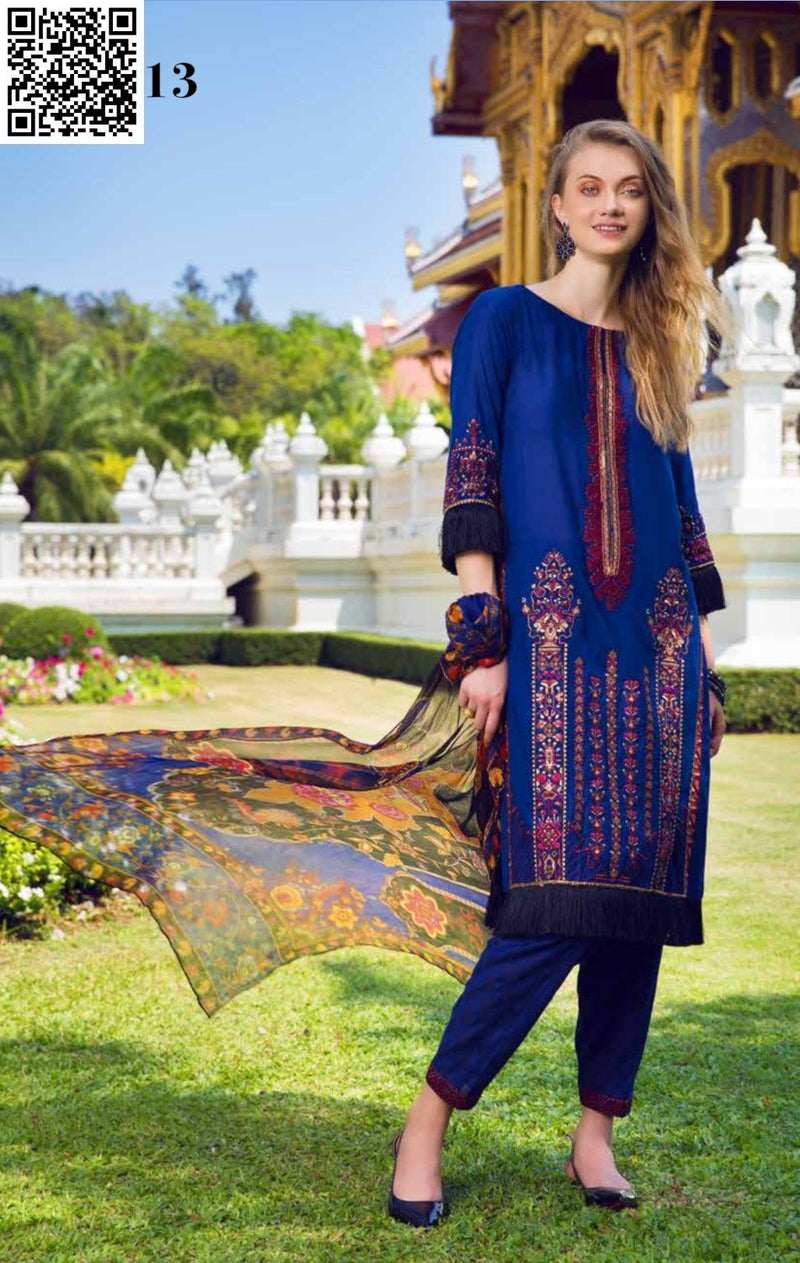 Eshaisha Summer Embroidered Lawn suit EA-513