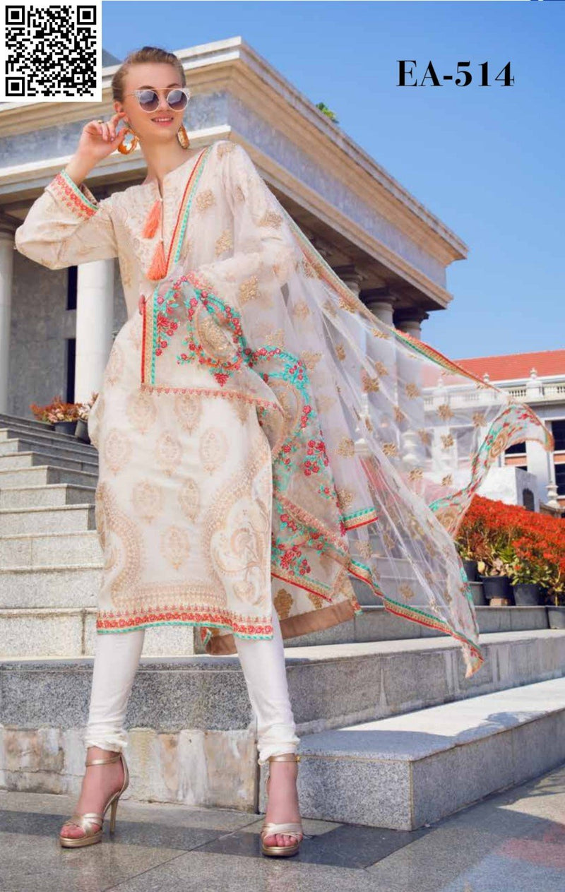 shaisha Summer Embroidered Lawn 2019 suit EA-514
