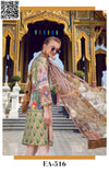 EshAisha Spring Embroidered Lawn 2019 Suit EA-516