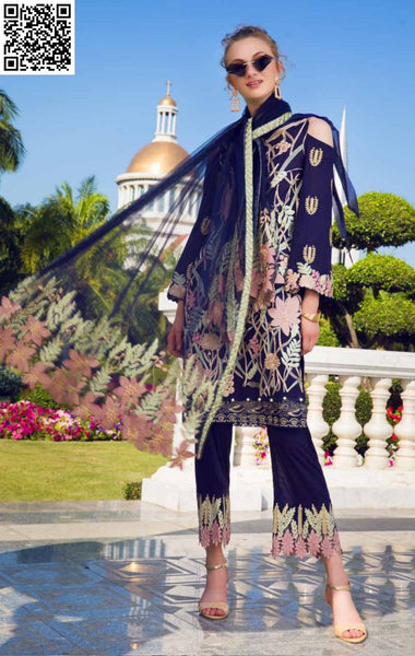 EshAisha Spring Embroidered Lawn 2019 Suit EA-517