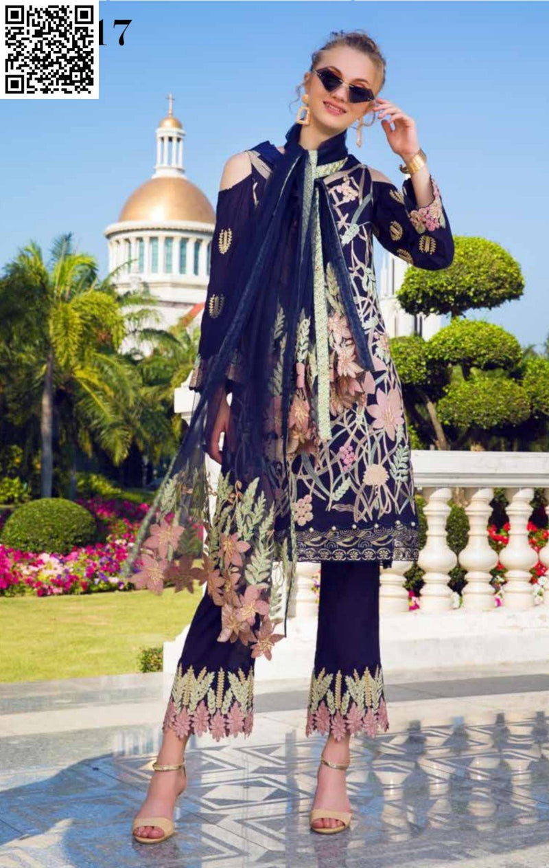 EshAisha Spring/Summer Embroidered Lawn 2019 Suit EA-517