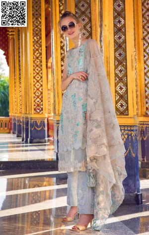 EshAisha Spring/Summer Embroidered Lawn 2019 Suit EA-519