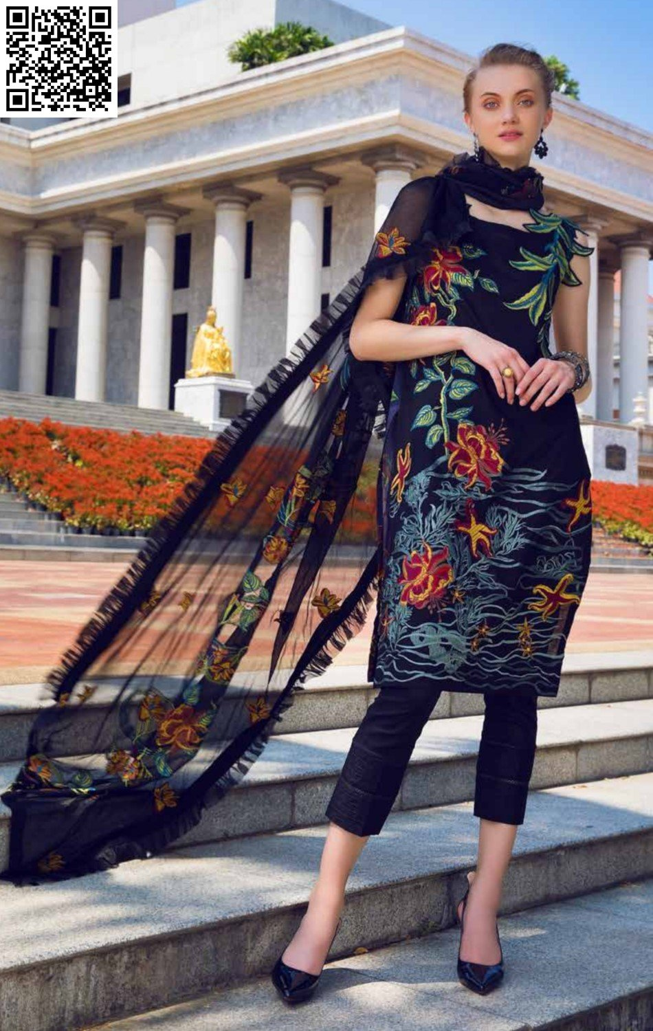 EshAisha Spring/Summer Embroidered Lawn 2019 Suit EA-520