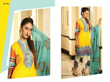 Eshaisha Summer Embroidered Lawn suit EA-517
