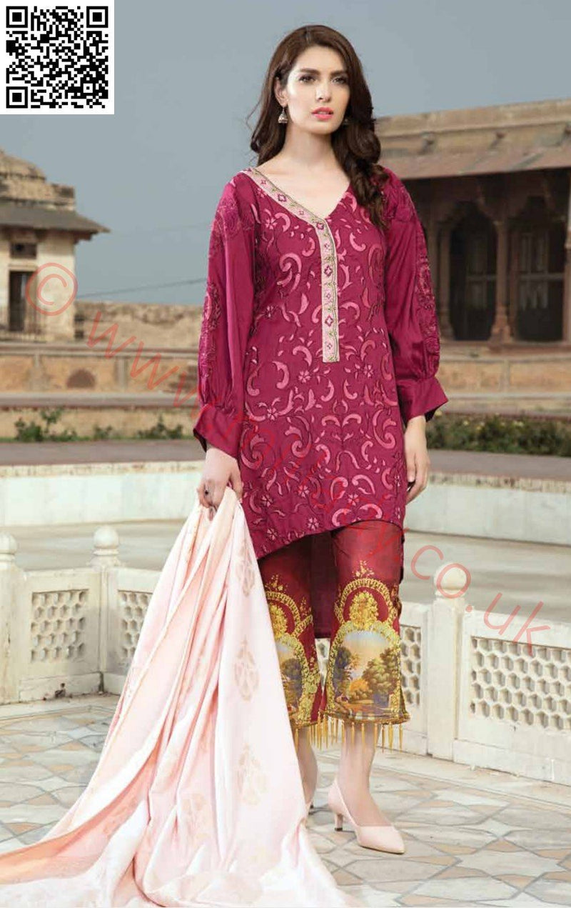 EshAisha Viscose Linen Winter 2018 suit EA-04