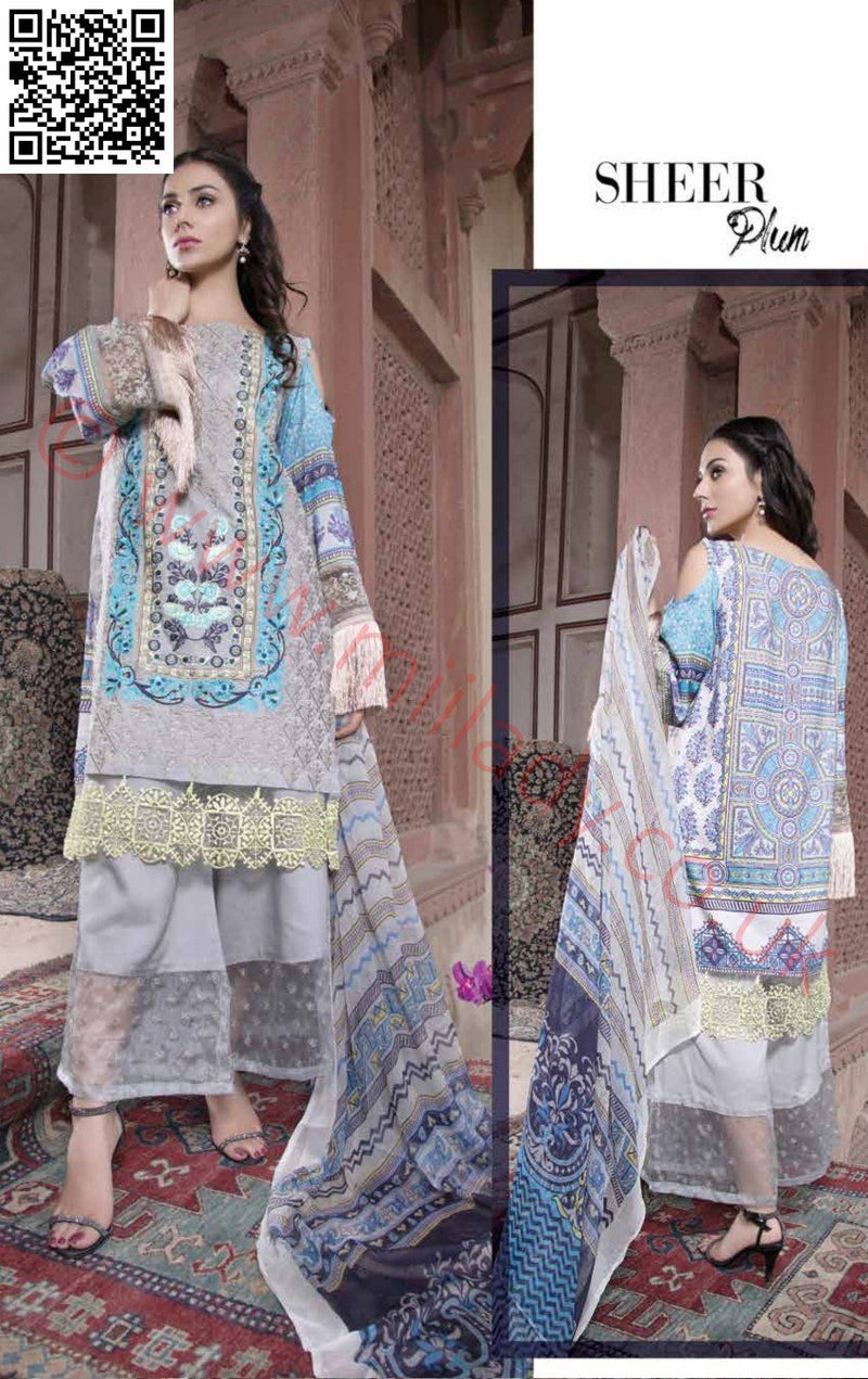 EshAisha Viscose Linen Winter Collection 2018 suit EA-08
