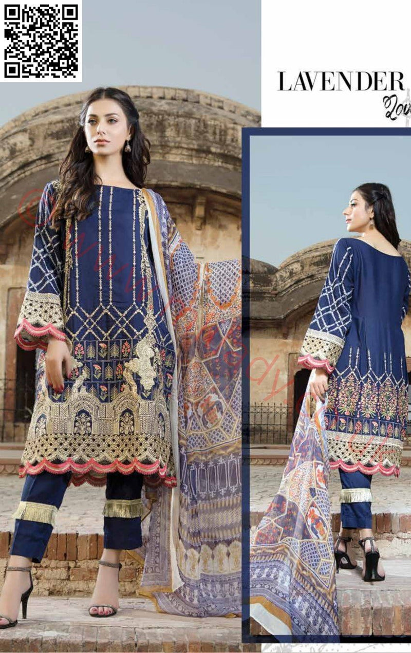 EshAisha Viscose Linen Winter Collection 2018 suit EA-10