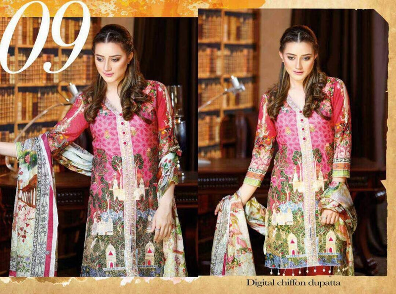 EshAisha Eid Collection 2017 suit D#09