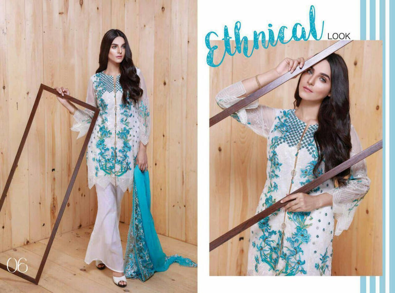 EshAisha Luxury Chiffon 2017 suit D#06