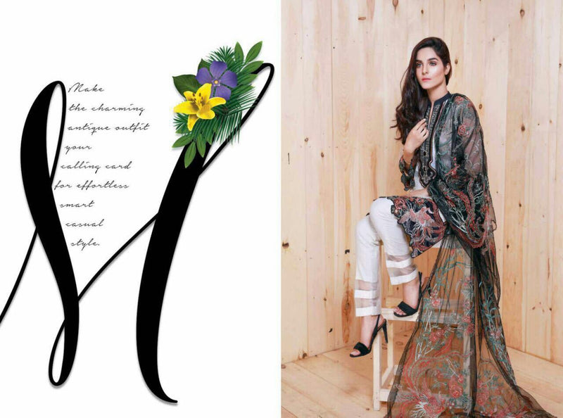 EshAisha Luxury Chiffon 2017 suit D#07
