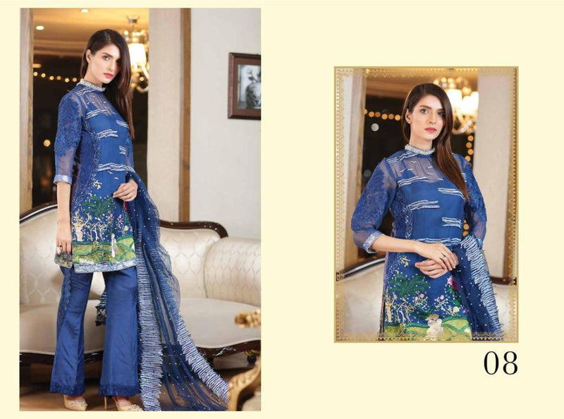 EshAisha Luxury Vol 2 2017 suit D#08