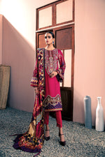 Farasha Linen Winter Collection 2020 suit Berry Blush