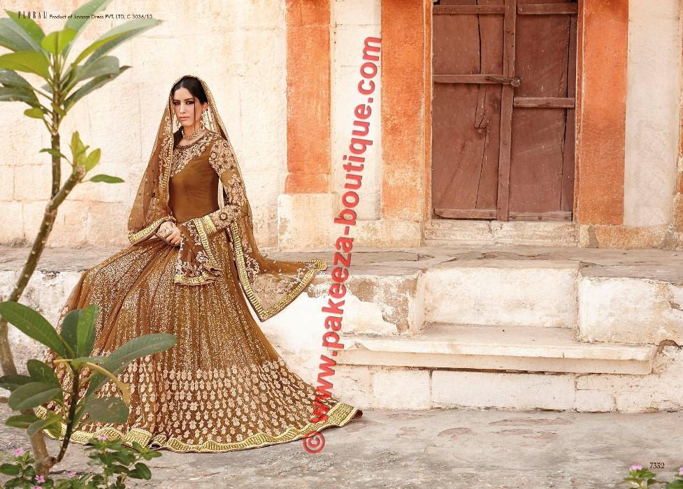 Floral Ghanerao Shimmer suit 7332