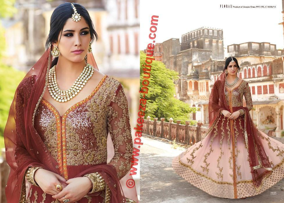 Floral Ghanerao Shimmer suit 7333