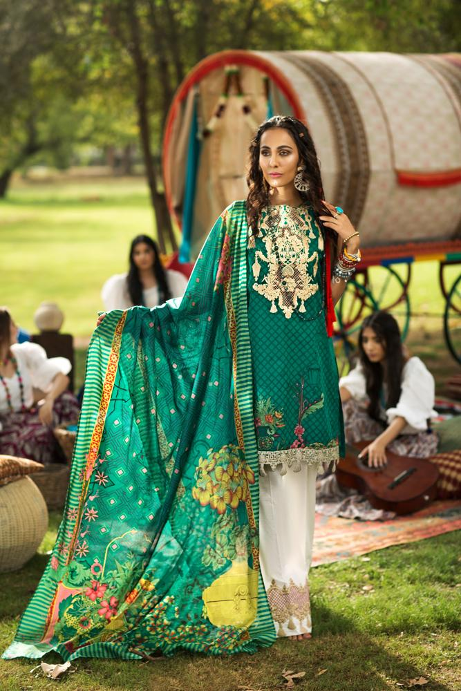 Florent Gypsy Lawn Vol-2 suit FL-1A