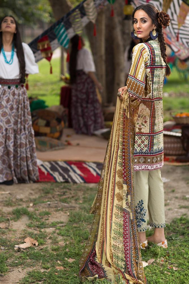 Florent Gypsy Lawn Vol-2 2019 suit FL-2B