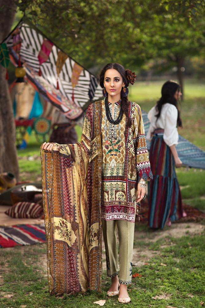 Florent Gypsy Summer Lawn Vol-2 2019 suit FL-2B