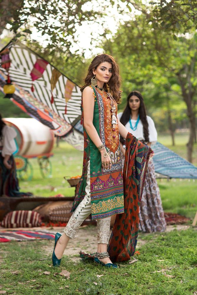 Florent Gypsy Lawn Vol-2 2019 suit FL-3A