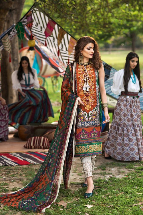 Florent Gypsy Summer Lawn Vol-2 2019 suit FL-3A