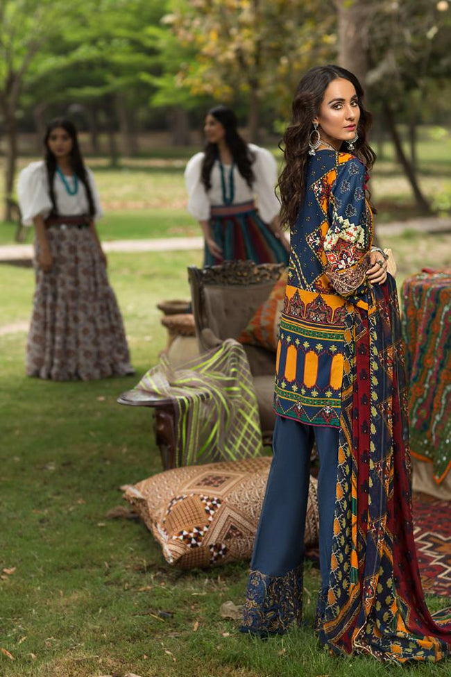 Florent Gypsy Lawn Vol-2 2019 suit FL-3B