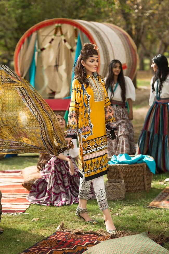 Florent Gypsy Lawn Vol-2 2019 suit FL-4A