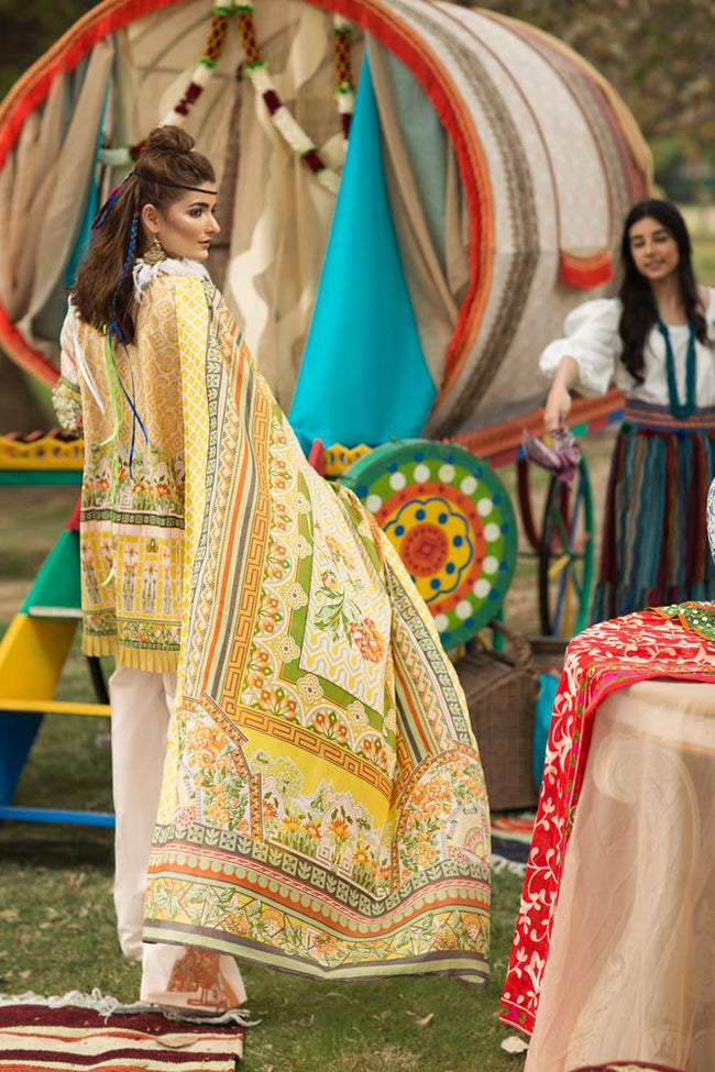 Florent Gypsy Lawn Vol-2 2019 suit FL-5A