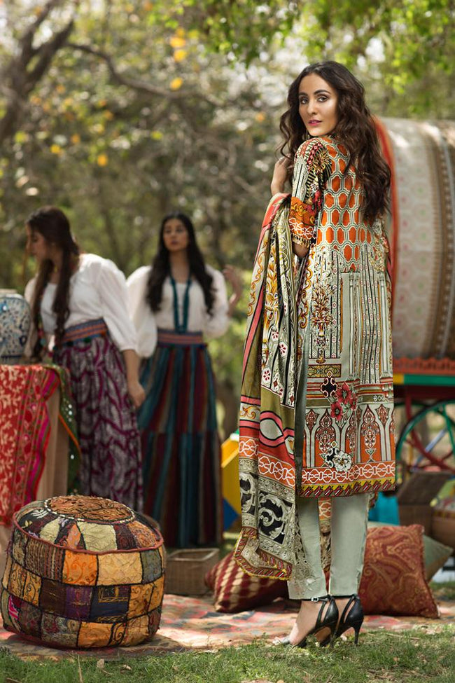Florent Gypsy Lawn Vol-2 2019 suit FL-6A
