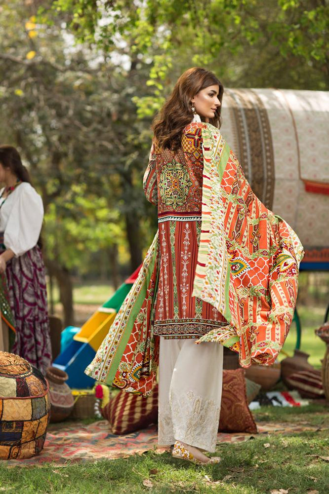 Florent Gypsy Lawn Vol-2 suit FL-8B