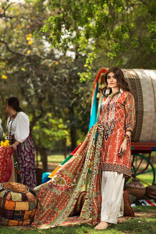 Florent Gypsy Summer Lawn Vol-2 2019 suit FL-8B