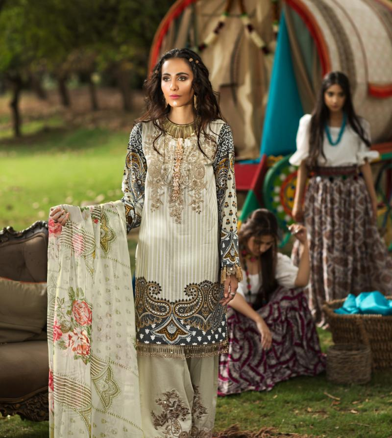 Florent Gypsy Summer Lawn Vol-2 2019 suit FL-7B