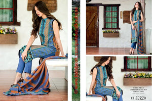 Gul Ahmed Essential Lawn suit CL-132B
