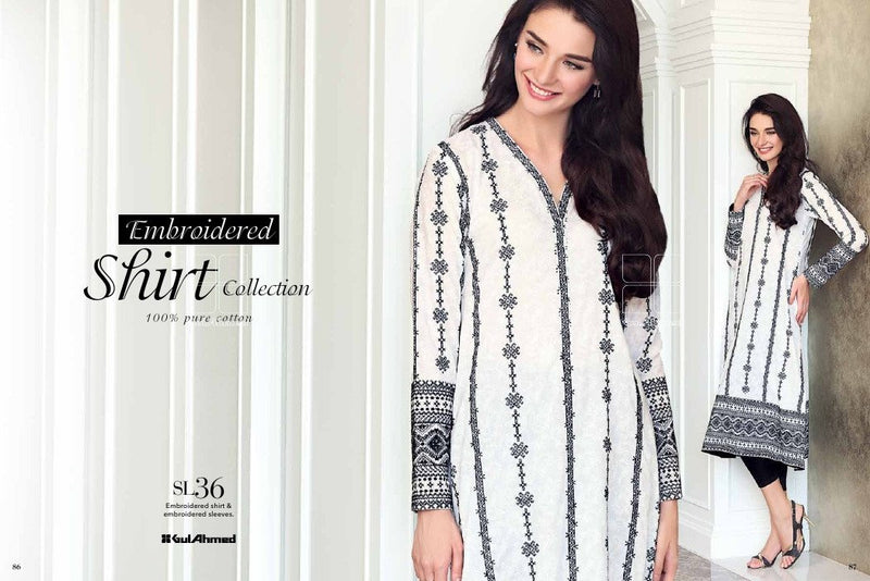Gul Ahmed Essential Lawn 2016 suit SL-36