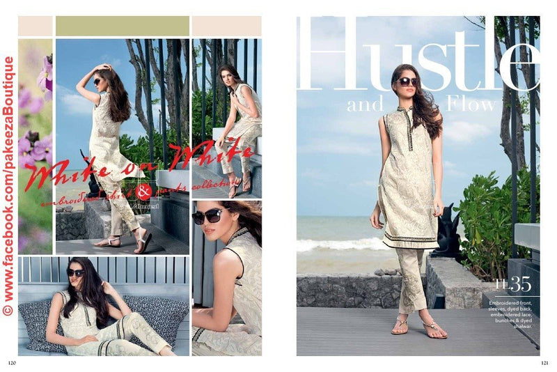 Gul Ahmed Essential Lawn suit TL-35