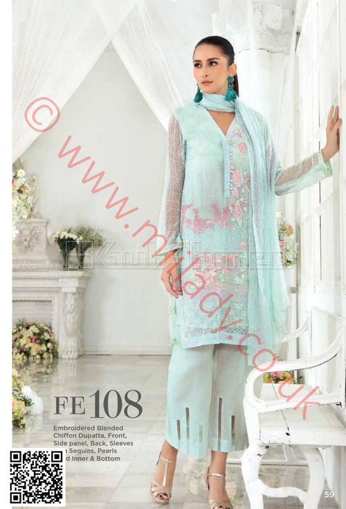Gul Ahmed Festive Eid collection 2018 suit FE108