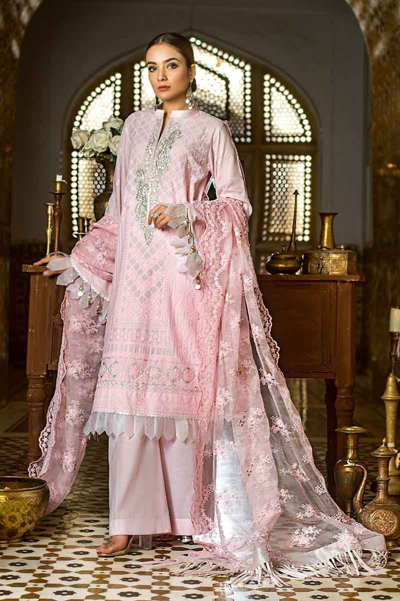 Gul Ahmed 2020 Embroidered Unstitched suit FE297