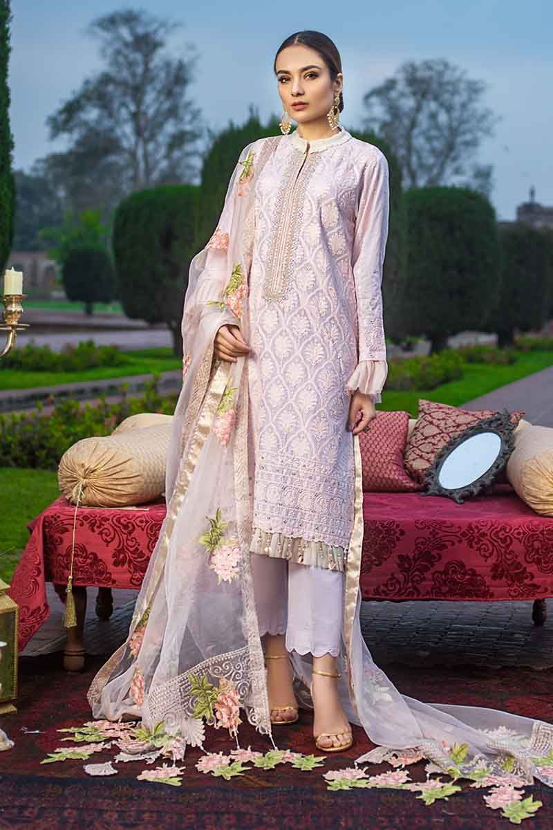 Gul Ahmed Festive Collection 2020 Embroidered Unstitched suit FE298