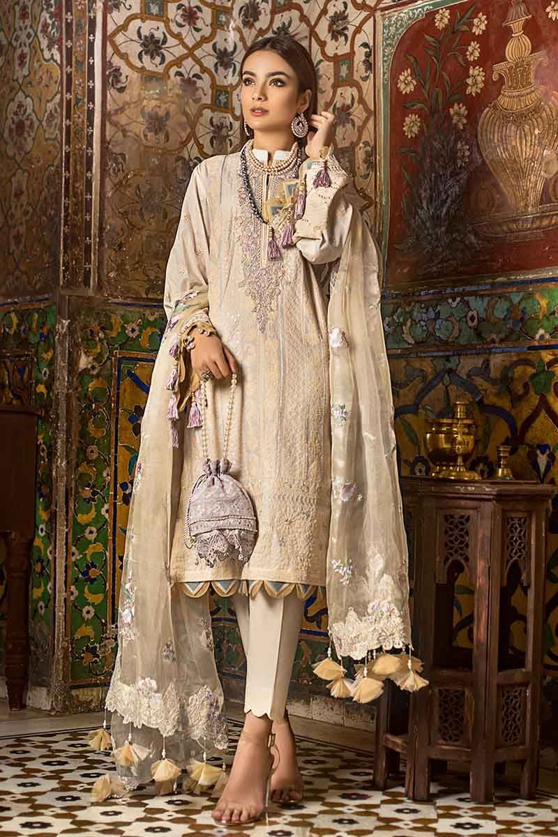 Gul Ahmed Festive Collection 2020 Embroidered Unstitched suit FE300