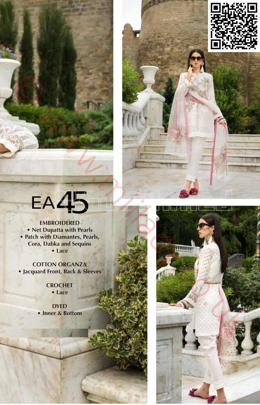 Gul Ahmed Festive Eid Vol-2 2018 suit EA45