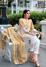 Gul Ahmed Festive Eid Vol-2 2018 suit EA-50 - Embroidered Cotton Net Kameez with dyed dupatta