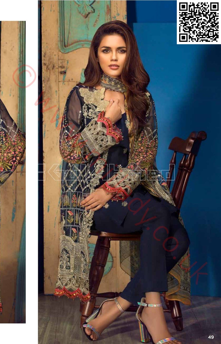 Gul Ahmed Festive Eid Luxury Edition Vol-2 2018 suit EA-55
